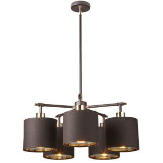Balance Loftlampe Ø53,5 cm 5 x E27 - Brun/Poleret messing