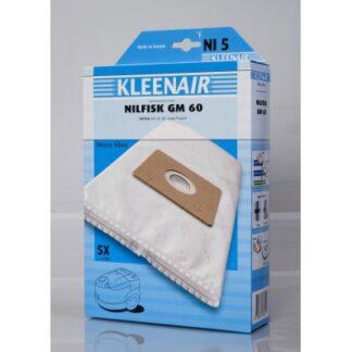 Kleenair NI 5 Støvsugerpose Nilfisk GO/COUPÉ/GM60/NEO/ONE (Microfibre)