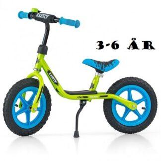 """Løbecykel Dusty 12"""" fra Milly Mally 3 - 6 år Grøn Blå"""