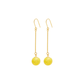 Louise Kragh Pearl Porcelænsperle gul