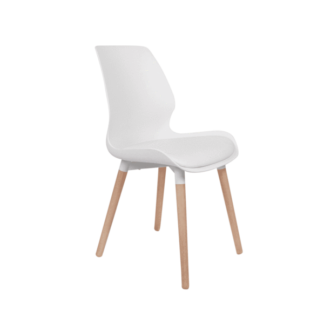 Nemo spisebordsstol hvid grå