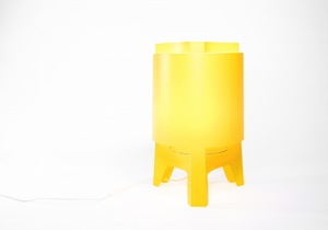 Orbit Maxi - Gulvlampe (Gul)