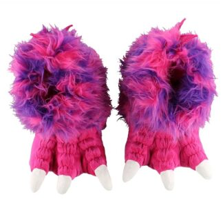 Pink & Purple Monster Giant Paw Slipper, Adult XL