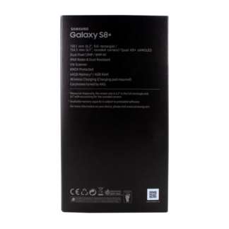 Samsung Galaxy S8+ Original Packaging - WITHOUT device and accessories - Black