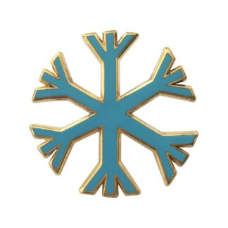 Snowflake pin badge