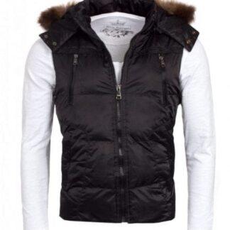 Young & Rich Vest med aftagelig pels hætte